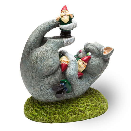 Cat Gnome Massacre Garden Gnome