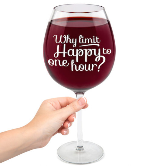 The Happy Hour Gigantic Wine Glass