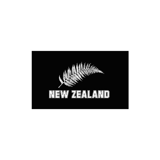 New Zealand Fern Polyester Flag (5ft x 3ft)