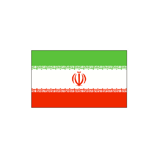 Iran Polyester Flag (5ft x 3ft)