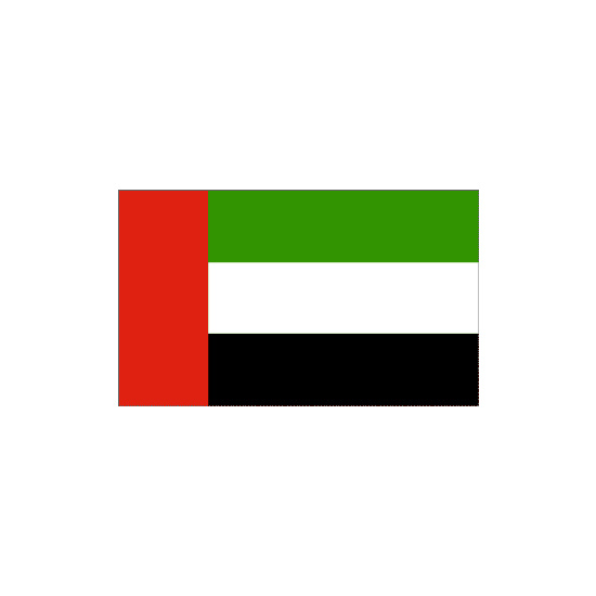 United Arab Emirates Polyester Flag (5ft x 3ft)