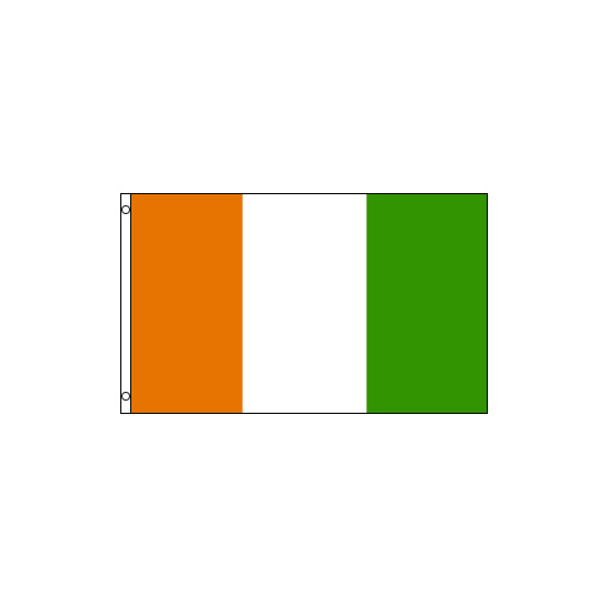 Cote D'Ivoire (Ivory Coast) Polyester Flag (5ft x 3ft)