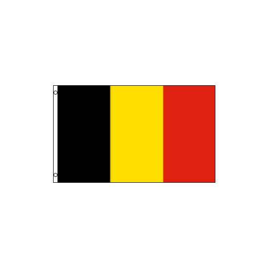 Belgium Polyester Flag (5ft x 3ft)