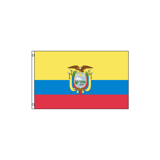 Ecuador Polyester Flag (5ft x 3ft)