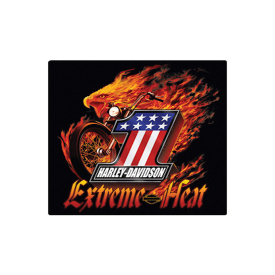 Harley Davidson Extreme Heat Die Cut Embossed Tin Sign