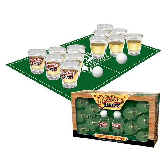 Beer Pong Shotz Drinking Game (12x Shot Glasses Included!)