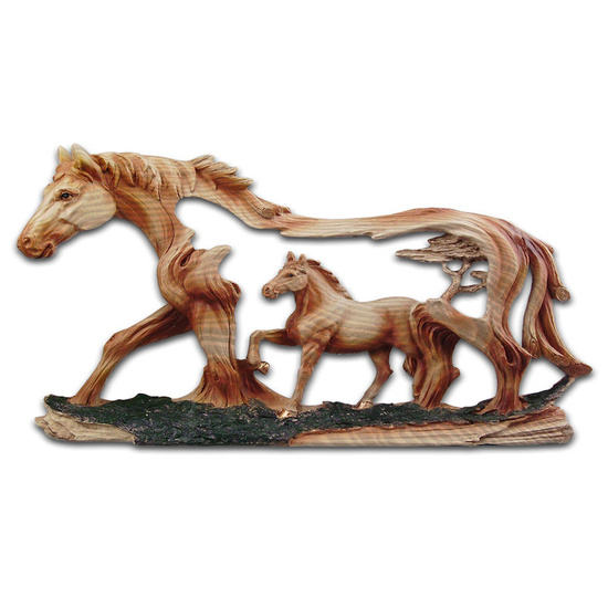 Two Horses Resin Plaque