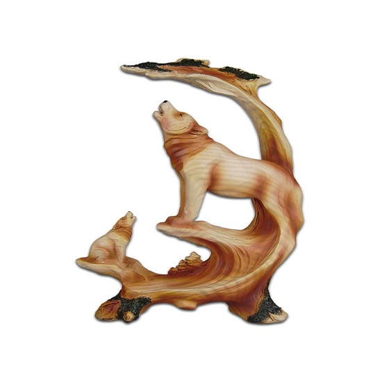 The Cherokee River Collection - Two Wolves Resin Plaque