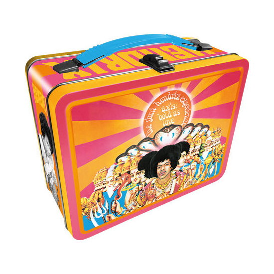Jimi Hendrix – Axis Bold as Love Tin Carry All Fun Box / Lunch Box
